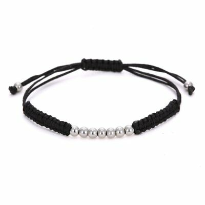 Fashion Hand-woven Rope Braided Bracelet Beads Adjustable Women Jewelry Gifts
