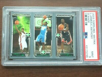 2003 Topps Rookie Matrix LeBron James Carmelo Anthony Dwyane Wade RC PSA 9