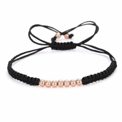 Fashion Hand-woven Rope Braided Bracelet Bead Adjustable Women Jewelry Gifts New