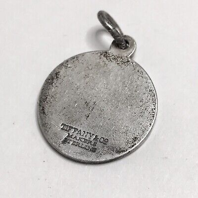 """Tiffany & Co. Sterling Silver """"RC"""" Vintage Tag Pendant"""