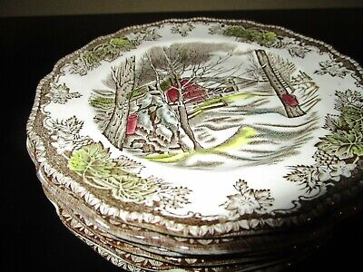 6 Johnson Bros Friendly Village Bread & Butter Plates  Made In England -Vgc