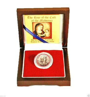 Rise of the Madonna:Legacy of Roman Emperor Arcadius A Bronze Coin,Boxed & Story