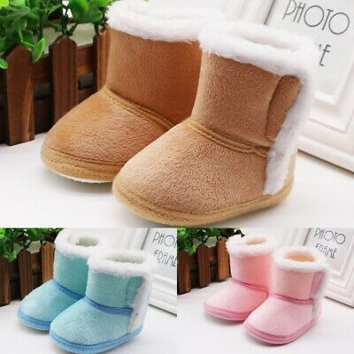 Baby Girl Boy Cotton Warm Boots Shoes First Walkers Newborn Non-slip Soft Shoe