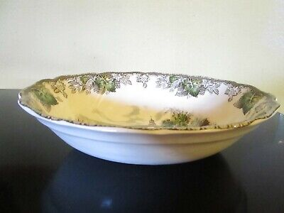 "Johnson Bros Friendly Village 9"" Oval Vegetable Bowl  Made In England -Vgc"
