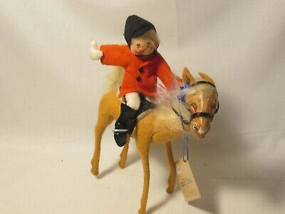 Vintage Annalee Equestrian English Horse Rider Blue Ribbon 1992 Model 9943