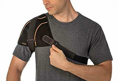 Copper Fit Rapid Relief Shoulder Wrap with Hot/Cold Ice Pack Underwear, Black