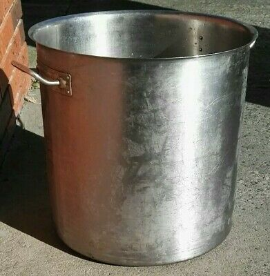 Stockpot without Lid. 70L Stainless Steel Stock Cooking Pot. 44cm x 46cm H