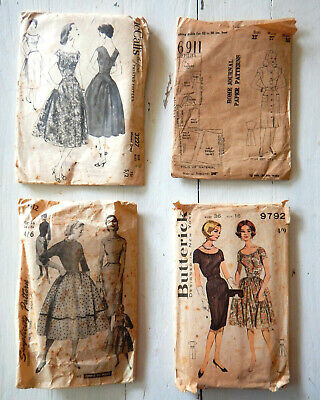 Four fabulous 1940s/50s vintage jacket and dresses patterns