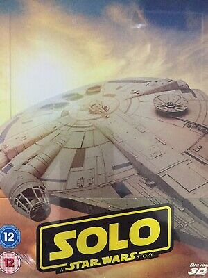 SOLO A Star Wars Story 3D BLURAY Steelbook Packaging 2018 BRAND NEW! UK Import