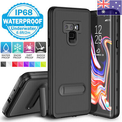 For Samsung S8 S9 S10 Plus Screen Protector Waterproof Case Cover with Kickstand