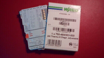 Wago IO-System 750-469/003-000 2AI Thermo K Diagn. adjustable