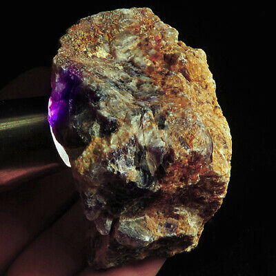 810.5Ct Magical Purple Amethyst Faceted Rough Specimen 100% Natural UYDZ487