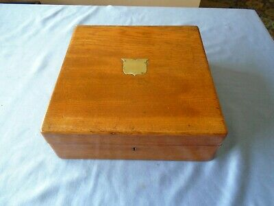 Antique Vintage Oak Wood Writing  Box  Stationery Desk Top  Storage  Sewing Box