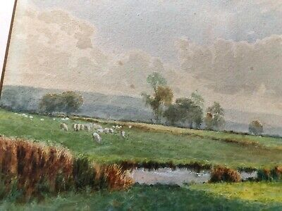 Old Original Antique Landscape Watercolour Painting English Artist Miller Smith