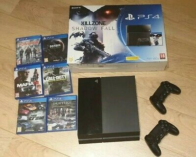 Sony PlayStation 4 850GB Console -  Jet Black - 2 Controllers - 6 games