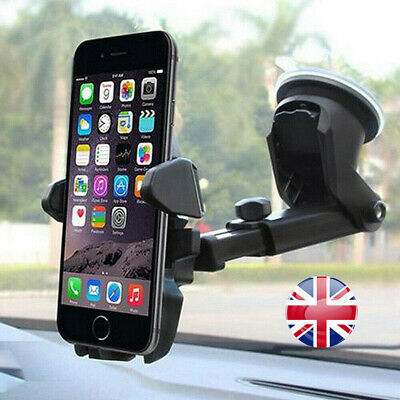Universal 360° Rotatable Car Suction Phone Holder Dashboard Windscreen Mount UK
