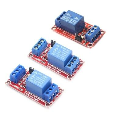 Channel Relay Module Trigger Low Level Optocoupler with One 5V 12V 24V And High