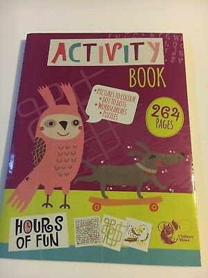 Activity Book 264 Pages A4 Jumbo Children Colouring Puzzle Word Search Ss531