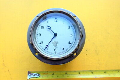 Vintage Car / Boat Clock Smiths 8 Day Dashboard / Bulkhead Good Time Keeper