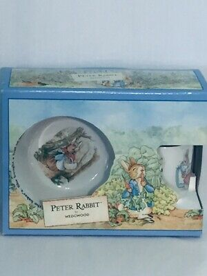 Wedgewood Child's Beatrix Potter Peter Rabbit Bowl Plate and Cup Set New In Box