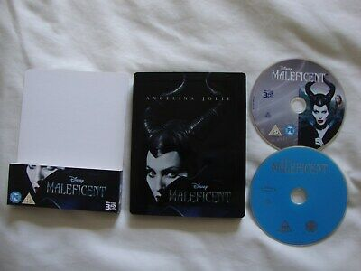 Disney's Maleficent (3D & 2D Blu-Ray Discs) - Steelbook Edition & Cover Sleeve