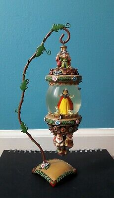 Disney Snow White Seven Dwarfs Hanging Snow Globe - Vine Stand - Pre Owned