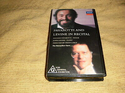 rare Pavarotti And Levine 1990 VHS TAPE as NEW opera music concert VIDEO PAL