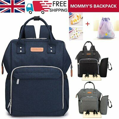 Nappy Yummy Mummy Changing Maternity Baby Bag Backpack Diaper Multifunctional UK