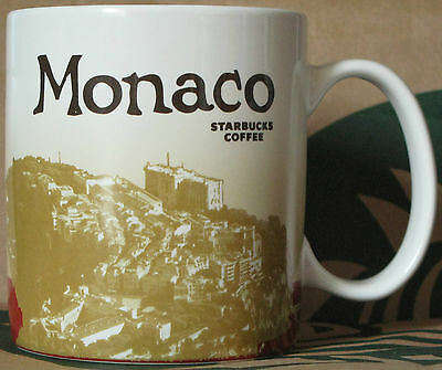 Starbucks Global Icon City Mug MONACO 16 oz mit SKU, ** RARE selten angeboten **