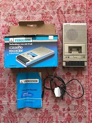 FERGUSON 3T27 Cassette Recorder With Power Cable, Instructions And Box