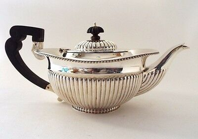 Teapot Large Classic Georgian Revival GOOD Sterling Silver Elkington London 1896