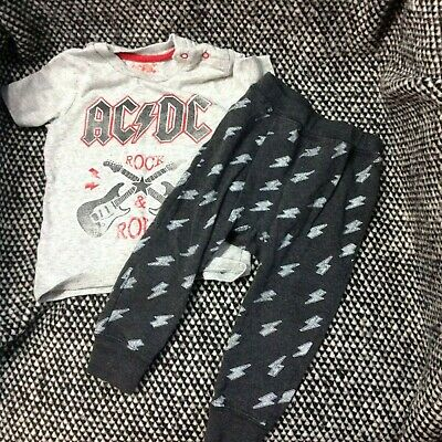AC/DC Toddler boys outfit high voltage 18m rock and roll baby music