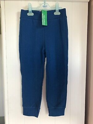 Boys United Colors Benetton Blue Joggers Bnwt Age 6-7 Years