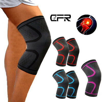 Knee Sleeve Compression Brace Patella Support Stabilizer Sports Joint Pain AM