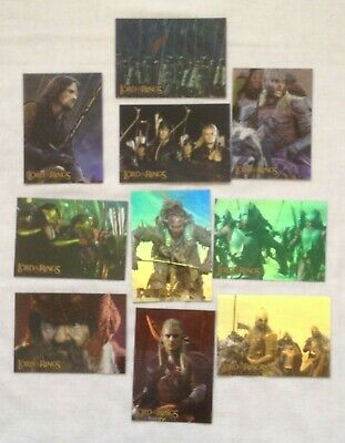 Lord of the Rings, The Two Towers, Prismatic Foil Cards, Full Set of 10 by Topps