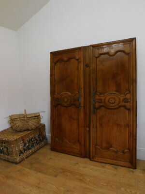 Pair of antique carved french panel doors