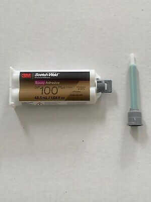 3M Scotch-Weld Epoxy Adhesive DP100 Plus Clear, 1.64 oz W/ (1) 1:1 Mixing Nozzle