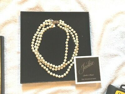 NIB Franklin Mint Jackie Kennedy Pearls (as seen in photo with JFK Jr)