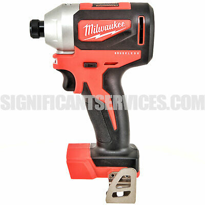 "Milwaukee 2850-20 M18 18V Lithium-ion Cordless Brushless 1/4"" Hex impact driver"
