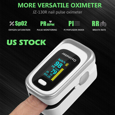 Finger Tip Pulse Oximeter Blood Oxygen Saturation Monitor SPO2 Heart Rate Tester