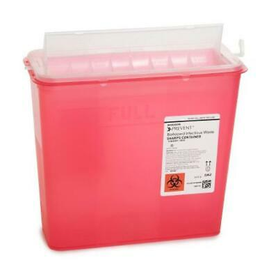 "McKesson Prevent Sharps Container, 10.75""Hx10.5""Wx4.75""D, 5 Quart, CS/20, #2262"