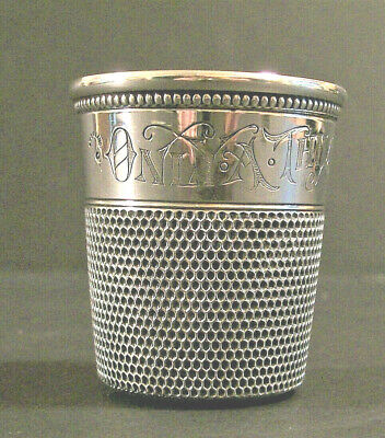 Antique Simon Bros. Sterling Thimble Shot Glass C. 1890 Only  A Thimble Full