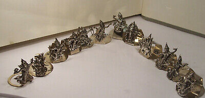 Set 12 Vintage Sterling Silver Siam Thailand Figural Diety Place Card Holders Xc