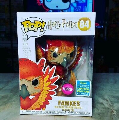 Rare Funko pop Harry Potter - Fawkes Flocked N°84 SDCC 2019 - Neuf