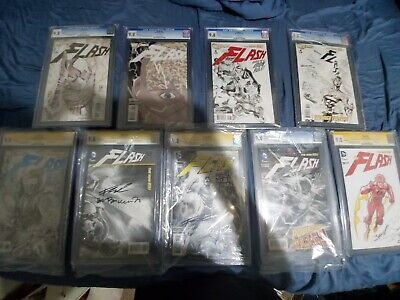 The Flash New 52 sketch variants #1,2,3,4,6,16,17,20,39 all CGC 9.8