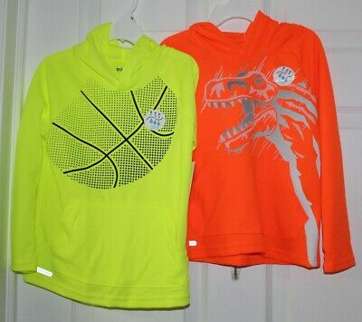 (2)BOYS SZ 2T LONG SLEEVE HOODED TEES by JUMPING BEANS-NWT'S