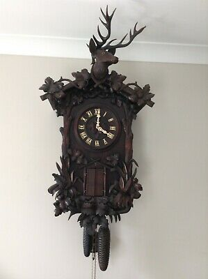 Rare Black forest Trumpeter not Cuckoo Clock Emilian Wehrle