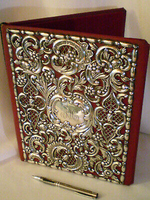 Dominick & Haff c. 1890 sterling silver desk document holder repousse
