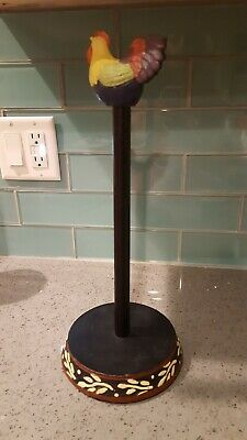 Cast Iron Countertop Kitchen Paper Towel Holder Rooster