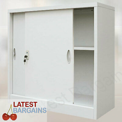 Metal Storage Cabinet Locker Office Garage Filing Stationery Cupboard Furniture